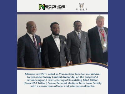 Alliance Law Firm Advised Neconde Energy Limited On The $640 Million Senior Secured Medium Term Loan Facility (2)
