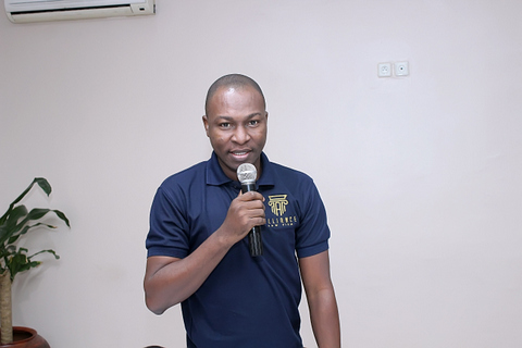 Managing Associate, Gabriel Onojason introducing himself
