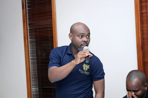 Albert A. Adu, Senior Associate, introducing himself