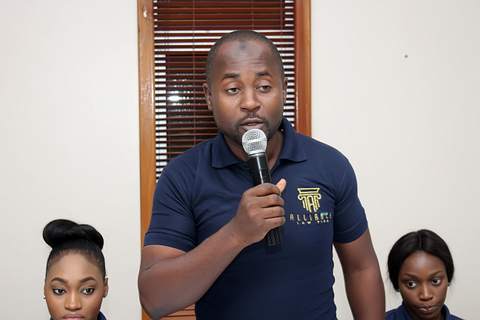 Sanusi Muhammed, a Senior Associate during the introduction of team members