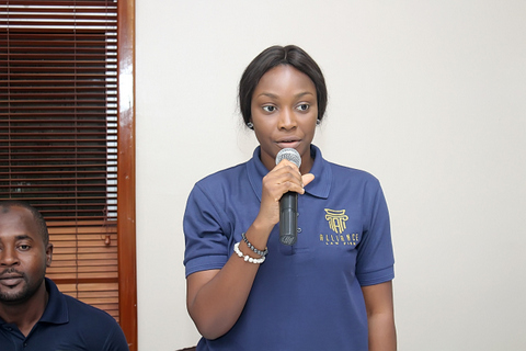 Pearl Eriyamremu during the introduction of team members