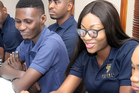 From Left: Mike, Doyin & Onye during the lecture session