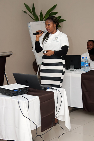 "Angela Yusuf during her presentation titled ""Understanding Financial Statements and Accounts"""