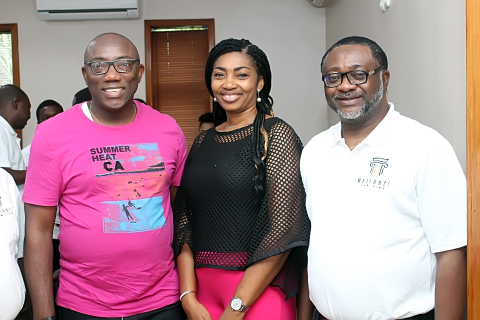 The Managing Partner with the invited guest speaker and his wife during the Day-2 of the retreat