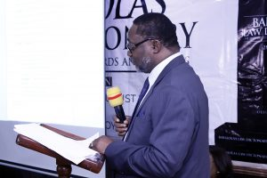 Alliance Law Firm's Managing Partner; Uche Val Obi SAN delivering the keynote lecture