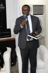 Alliance Law Firm's Managing Partner; Uche Val Obi SAN delivering the keynote lecture of the event