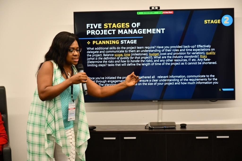 Ebele Iyayi during her presentation titled Law Firm Project Management & Facility Management
